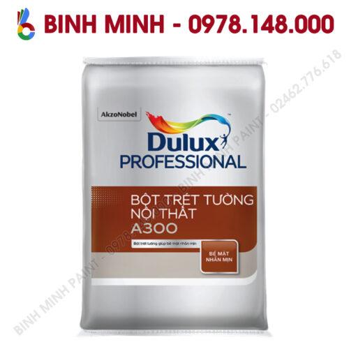 Sơn Dulux Proesional bột bả nội thất A300 40KG Bình Minh Hà Nội