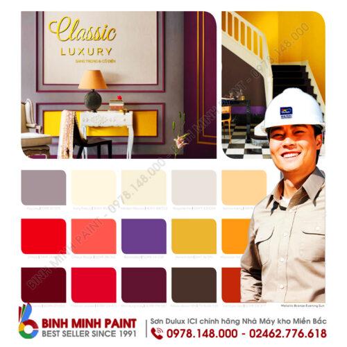 bảng màu sơn dulux trong nhà mới nhất